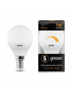 Лампочка Gauss 105101107-D P45 E14 7 Вт 3000K