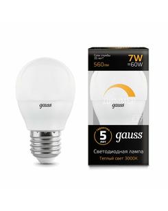 Лампочка Gauss 105102107-D P45 E27 7 Вт 3000K