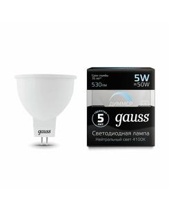 Лампочка Gauss 101505205-D MR16 GU5.3 5 Вт 4100K