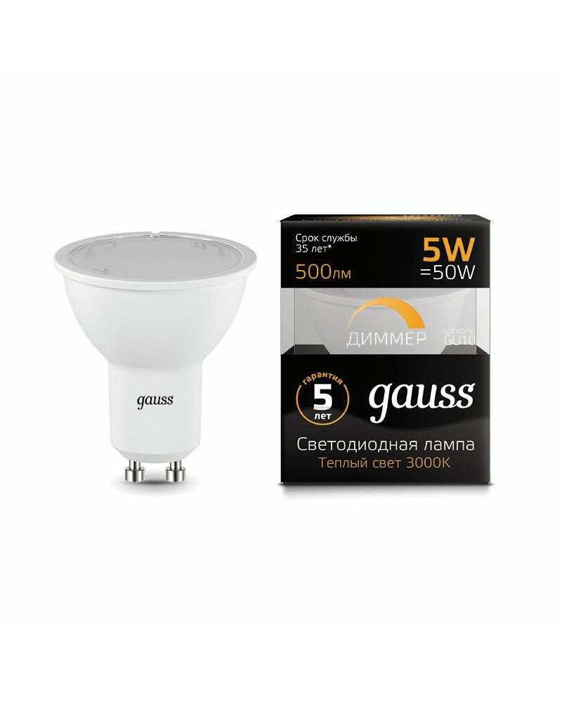 Лампочка Gauss 101506105-D MR16 GU10 5 Вт 3000K