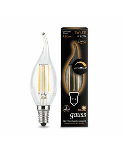 Лампочка Gauss 104801105-D C37 E14 5 Вт 2700K