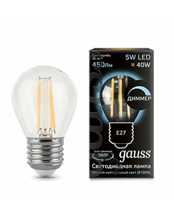 Лампочка Gauss 105802205-D P45 E27 5 Вт 4100K