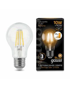 Лампочка Gauss 102802110-S A60 E27 10 Вт 3000K