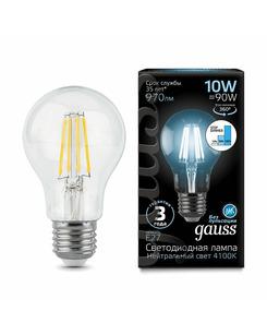 Лампочка Gauss 102802210-S A60 E27 10 Вт 4100K