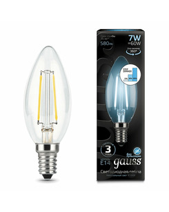Лампочка Gauss 103801207-S C37 E14 7 Вт 4100K