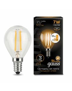 Лампочка Gauss 105801107-S P45 E14 7 Вт 2700K