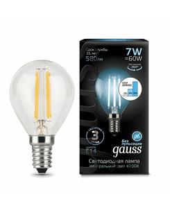 Лампочка Gauss 105801207-S P45 E14 7 Вт 4100K
