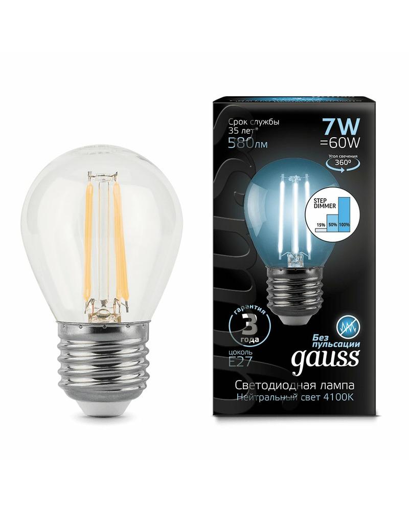 Лампочка Gauss 105802207-S P45 E27 7 Вт 4100K