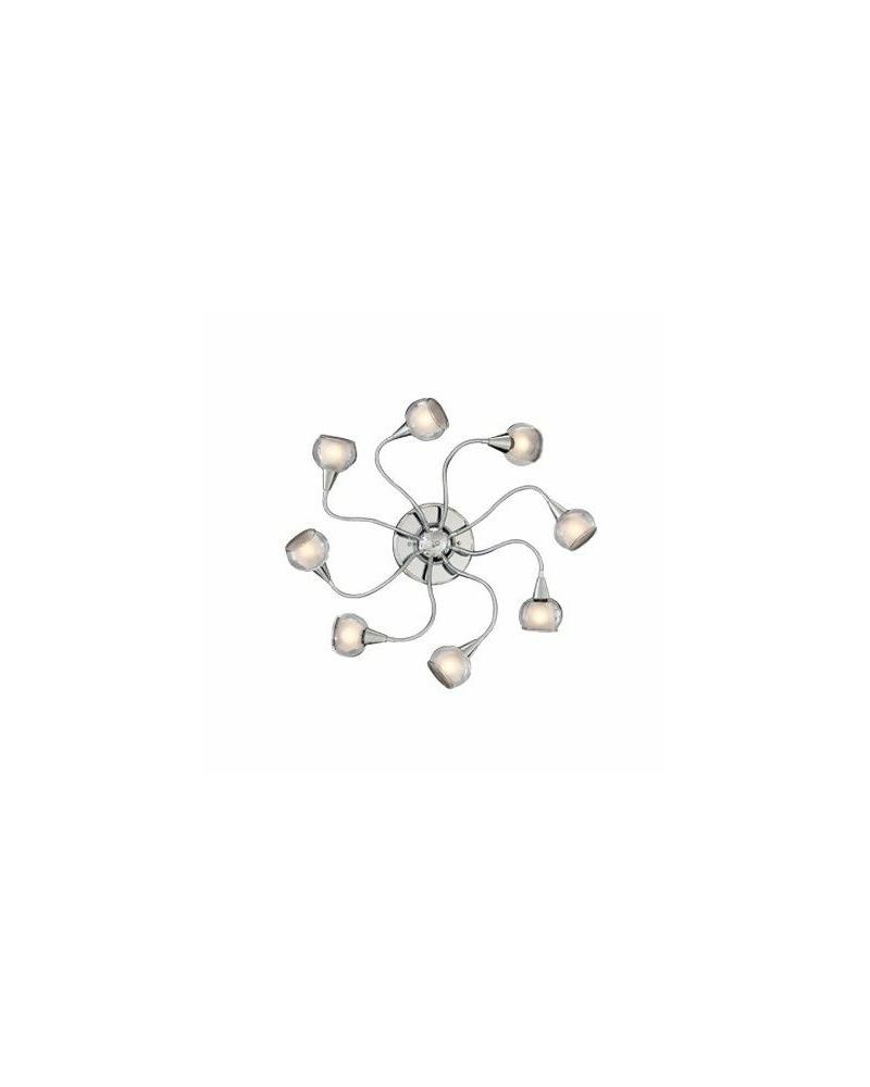Люстра припотолочная Ideal Lux / Идеал Люкс TENDER PL8 TRASPARENTE