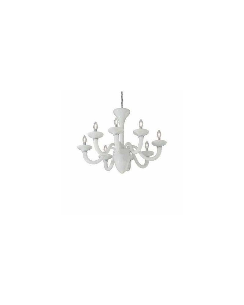 Люстра подвесная Ideal Lux / Идеал Люкс WHITE LADY SP8 BIANCO